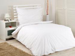 Hotelové povlečení bavlněné bílé, s hotelovou kapsou