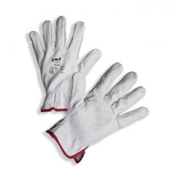 PD-02 White cow grain leather gloves