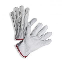 PD-08 White cow grain + split leather gloves
