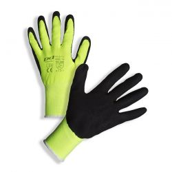 PD-317Y Black latex coated yellow knitted gloves