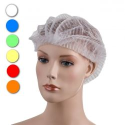 PD-CLIP Disposable non-woven mob cap in 6 colours, 2 sizes and 2 versions