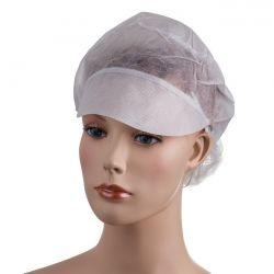 PD-SNOOD Jednorázová čepice s kšiltem a síťkou na dlouhé vlasy