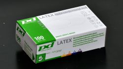 PD-LX-PWD Latexové pudrované rukavice