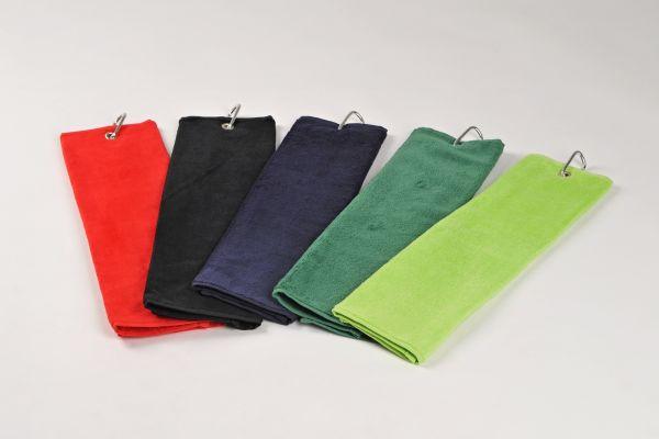 GOLF Sportovní ručník pro golfisty, s karabinou