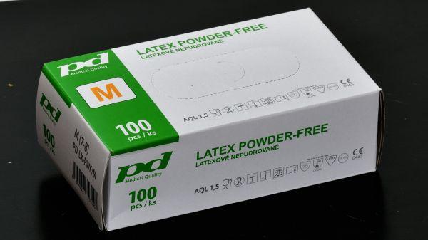 PD-LX-PWF Latexové nepudrované rukavice